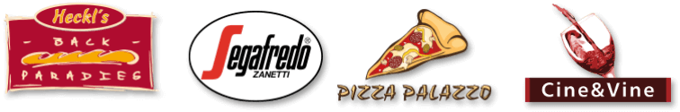 Heckl's Backparadies / Segafredo Zanetti / Pizza Plazzo / Cine&Vine